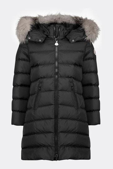 Girls Black Down Padded Abelle Coat