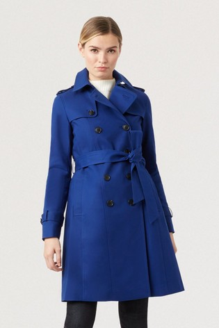 Hobbs Blue Saskia Trench Jacket