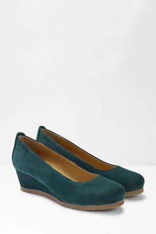 Buy White Stuff Blue Issy Wedge Shoes