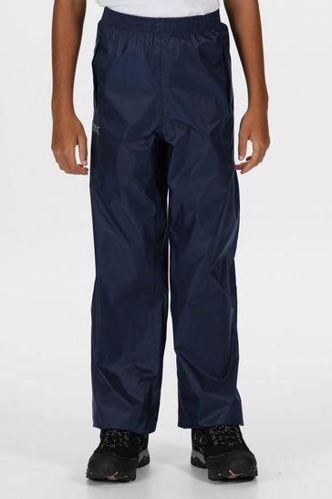 Regatta Blue Kids Pack It Waterproof Overtrousers