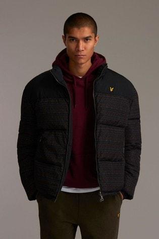 Lyle & Scott Reversible Fairisle Printed Padded Jacket