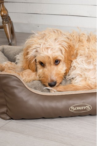 Large Chateau Memory Foam Orthopaedic Dog Box Bed by Scuffs