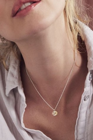 Personalised Mixed Gold Sun Moon and Star Necklace by Posh Totty Designs