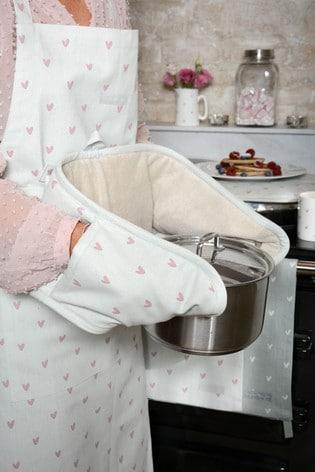 Sophie Allport Hearts Double Oven Glove