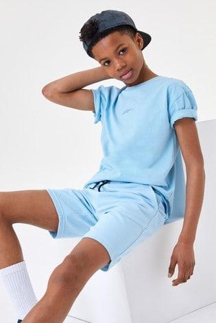 Pale Blue Jersey Shorts (3-16yrs)