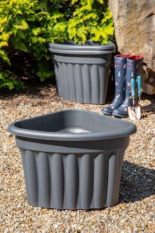 Set of 3 Vista 40cm Corner Garden Planters by Wham