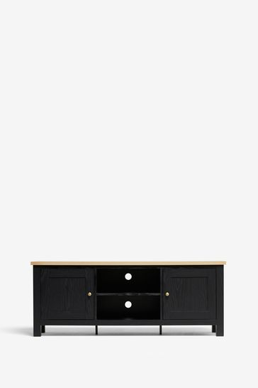 Malvern Black  Wide TV Stand