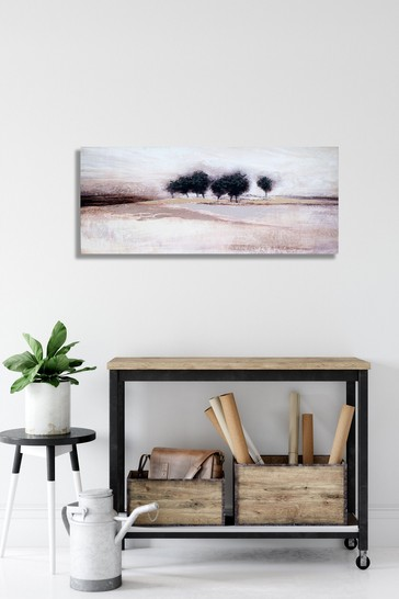 Trees Serene Landscape Canvas by Arthouse
