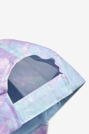 Purple/Aqua Tie Dye Cap (3mths-10yrs)