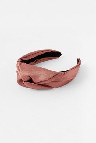 Accessorize Rose Gold Twist Satin Headband