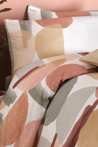 Appletree Coral Duval Geo Cotton Duvet Cover and Pillowcase Set