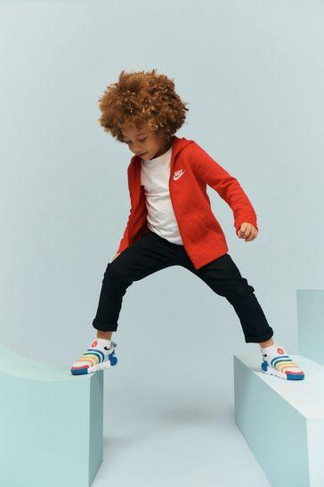 Nike Little Kids Red Fleece Zip Through Hoodie