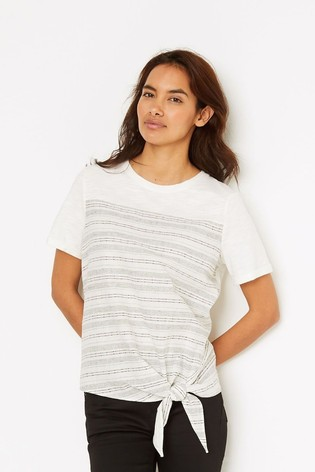 White Stuff Natural Stripe And Knot T-Shirt