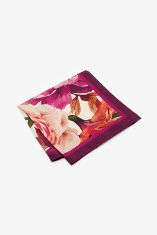 Pink Signature Floral 'Made in Italy' Pocket Square
