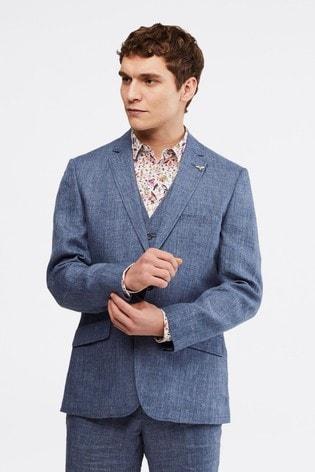 White Stuff Blue Northcote Linen Blazer