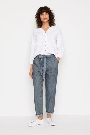 White Stuff Blue Albarn Trousers