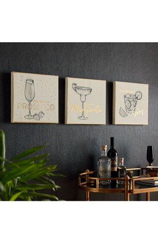 Drinks Collection Trio Wall Art by Art For The Home