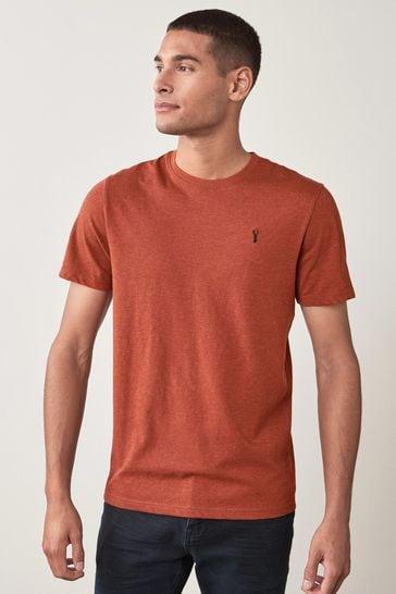 Rust Marl Regular Fit Stag T-Shirt