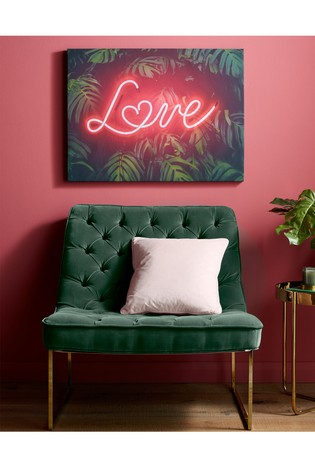 Tropical Neon Love Wall Art by Art For The Home