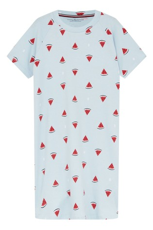 Tommy Hilfiger Blue Watermelon Print Nightdress