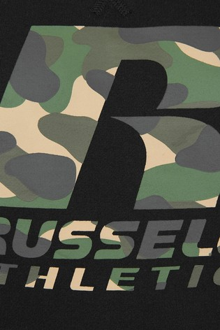 Russell Athletic Camo Logo Hoodie