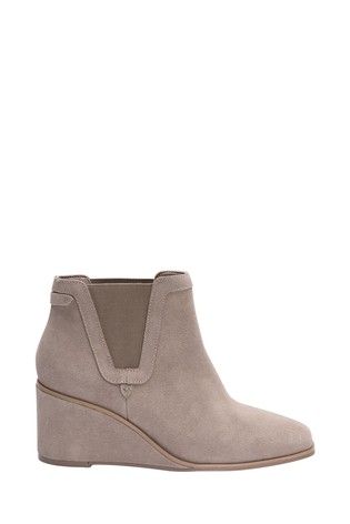 Grey Forever Comfort® With Motion Flex Wedge Heel Ankle Boots