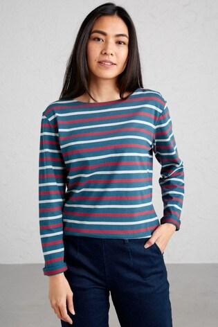 Seasalt Blue/Red Stripe Sailor T-Shirt