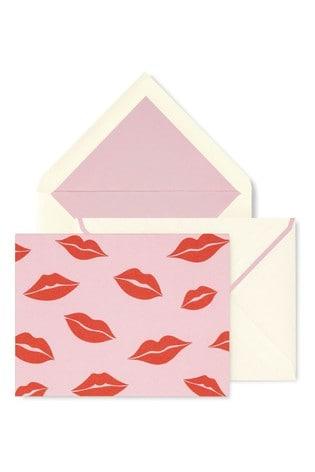 kate spade new york Lips Foldover Card Set