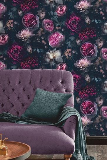 Dark Botanical Flower Garden Ordinary Wallpaper