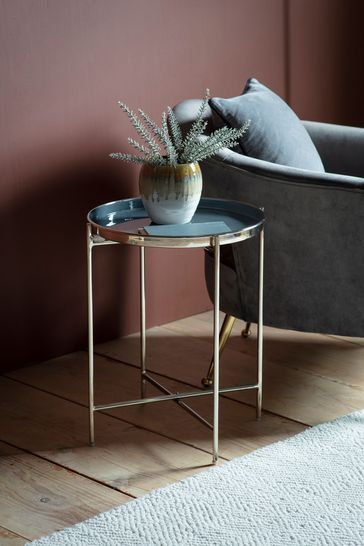 Valetta Silver and Dark Grey Side Table By Hudson Living