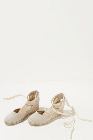 Mint Velvet Cream Beth Espadrille Wedges
