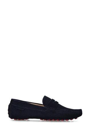 Kurt Geiger London Louis Navy Loafer Shoes