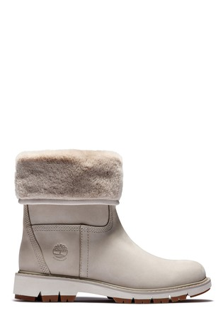 Timberland® Lucia Pull-On Faux Fur Nubuck Waterproof Boots