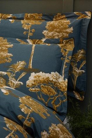 Riva Home Arboretum Botanical Print Cotton Sateen Duvet Cover and Pillowcase Set