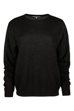 Oliver Bonas Black Sparkle Ombre Knitted Jumper