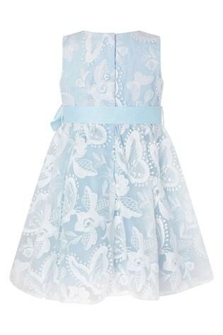 Monsoon Blue Baby Sophia Butterfly Lace Dress