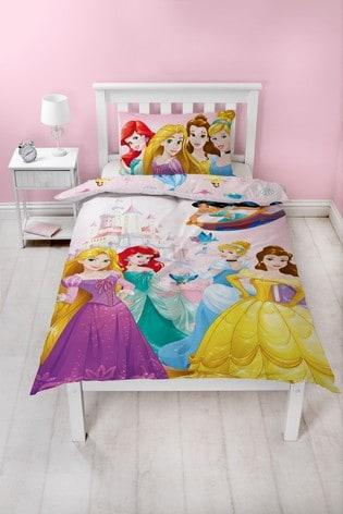 Pink Disney™ Princess Reversible Duvet Cover and Pillowcase Set