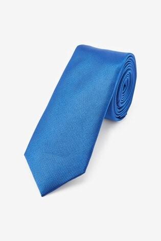 Cobalt Slim Twill Tie