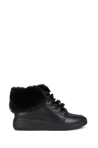 Geox Women's Rubidia Black Sneakers