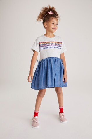 Multi Sequin Rainbow Dress (3-12yrs)