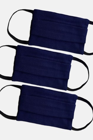HotSquash Adult Navy Face Coverings Three Pack