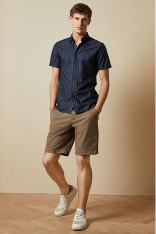 Ted Baker Natural Buenose Cotton Chino Shorts