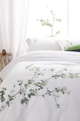 Jasmine Tree Duvet Cover and Pillowcase Set