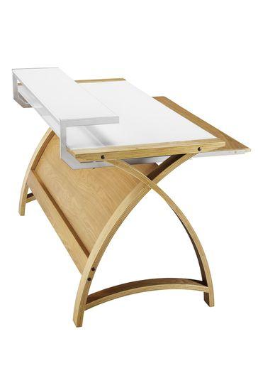 Helsinki 900 Oak Desk by Jual