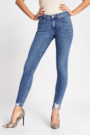 River Island Denim Medium Amelie Rise Ruby Jeans