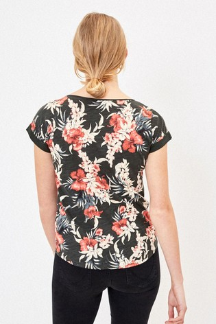 Oasis Green Floral T-Shirt