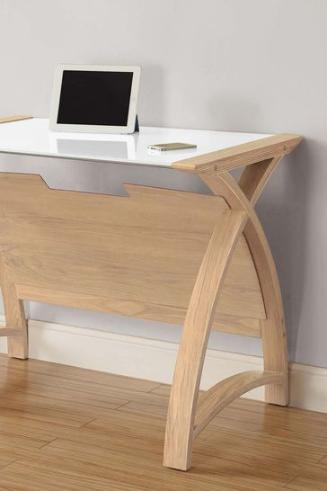 Helsinki 900 Oak Laptop Table by Jual