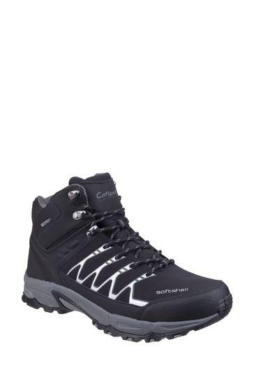 Cotswold Black Abbeydale Mid Hiker Boots