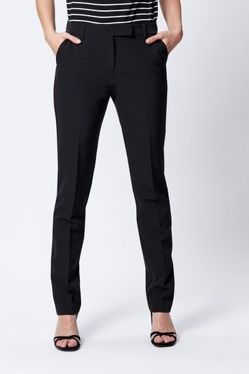 M&Co Black Tapered Leg Trousers