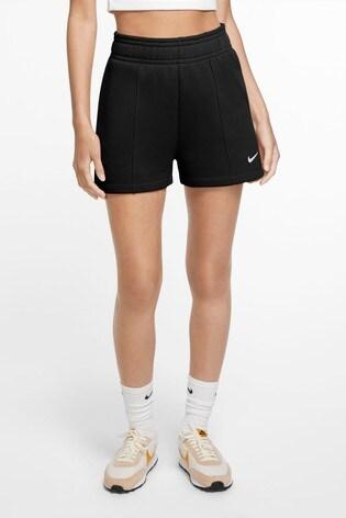 Nike Black Trend Fleece High Waist Shorts